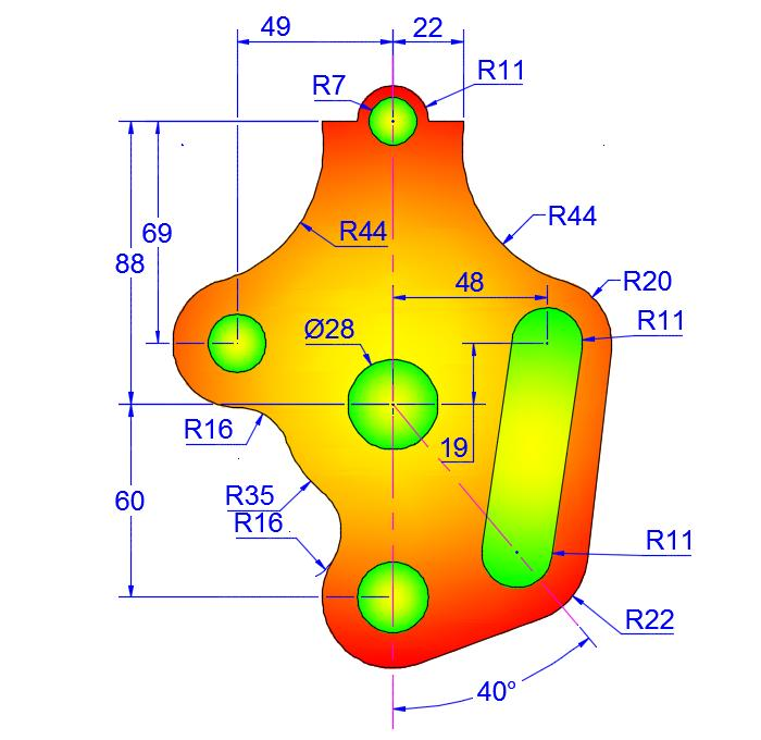 AutoCAD_2D_Exercises_11 practice drawings for beginners
