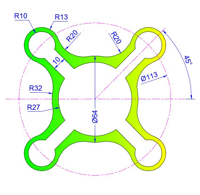 AutoCAD_2D_Exercises_14 practice drawings for beginners
