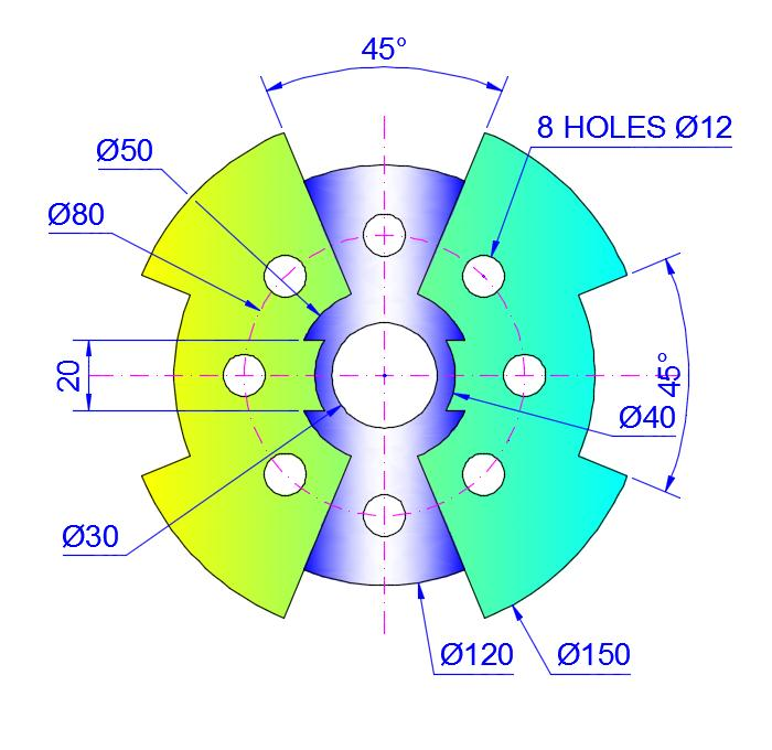 AutoCAD_2D_Exercises_18 practice drawings for beginners