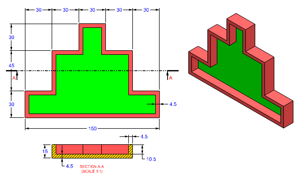 AutoCAD_3D_Exercise_21 practice drawings for beginners