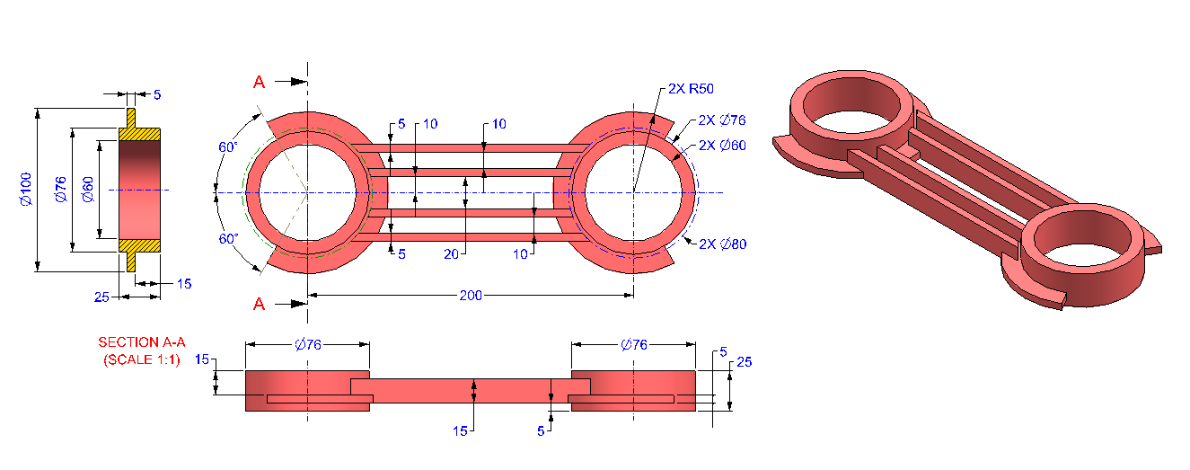 AutoCAD_3D_Exercise_25 practice drawings for beginners