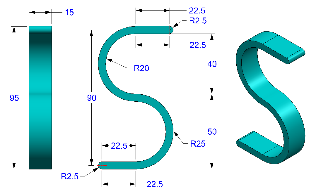 AutoCAD_3D_Exercise_26 practice drawings for beginners