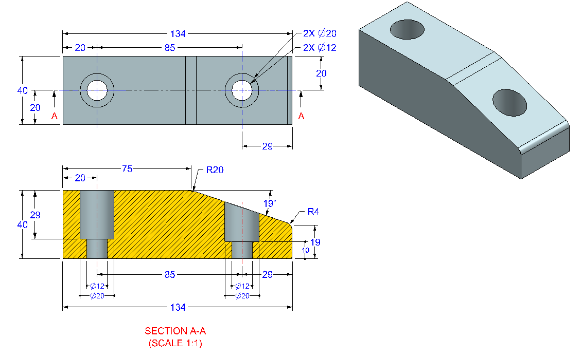 AutoCAD_3D_Exercise_29 practice drawings for beginners