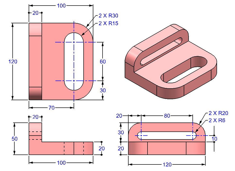 AutoCAD_3D_Exercise_31 practice drawings for beginners
