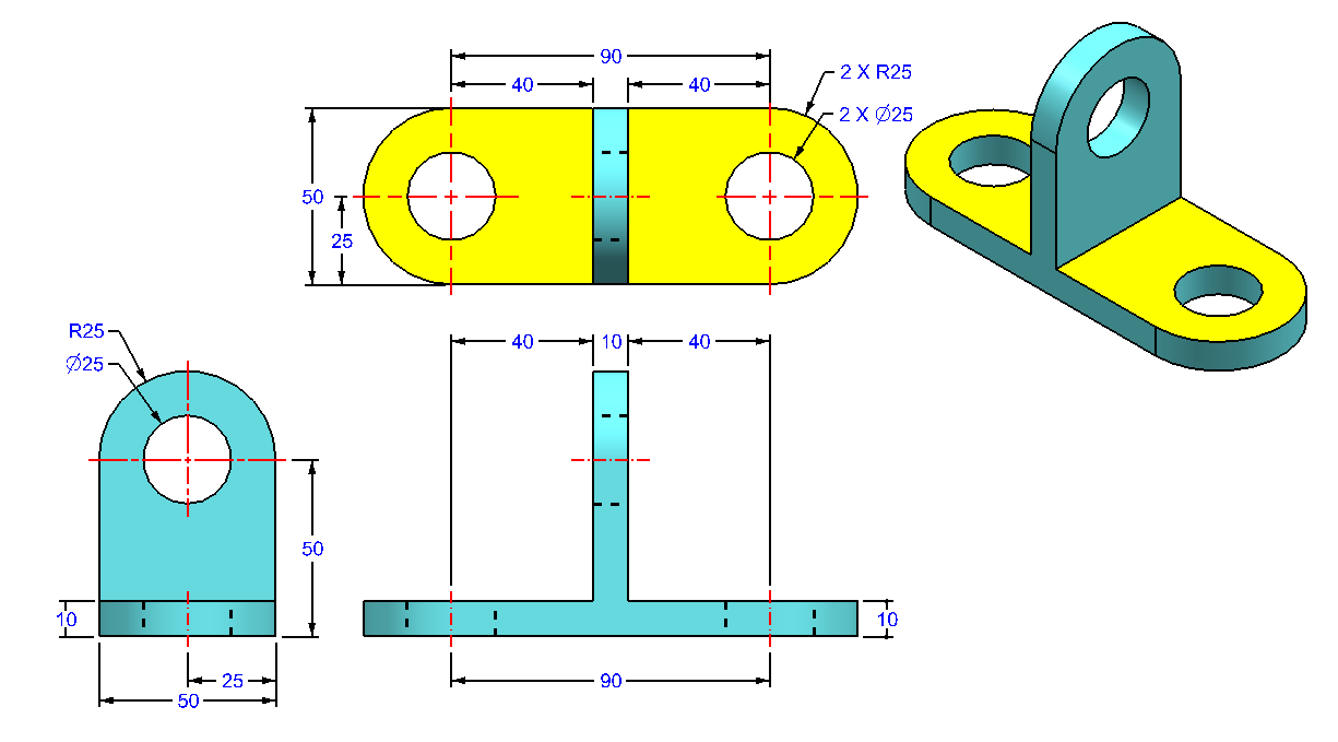 AutoCAD_3D_Exercise_34 practice drawings for beginners