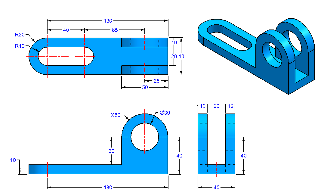 AutoCAD_3D_Exercise_36 practice drawings for beginners